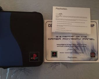 Sony PlayStation 2 Advisory Gamer Panel Promo Case w Cert & Pen * Brand New