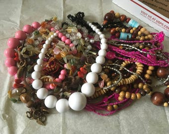 Z 15, vintage to now mixed assorted beaded necklaces. Wear, resell, gift