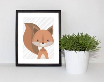 Children & Nursery Bedroom Decor - Squirrel Forest Animal