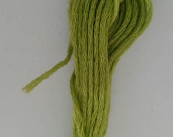 1 skein green  embroidery thread - sewing, knitting, crochet, jewellery making, card making, papercrafting, scrapbooking,
