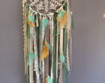 dream catcher green beige dreamcatchers