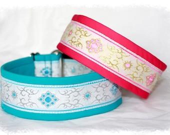 "Dog Collar ""Sugars"" Jacquard Ribbon Elegant Design for Pet accessories fashion"