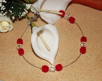 Red and clear bracelet