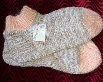 Socks knitted by hand, warm and comfortable