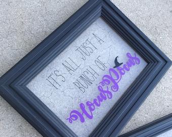 Window Pane Style Hocus Pocus Sign