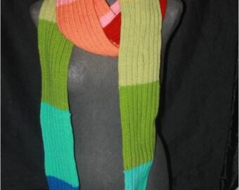 Long acrylic Rainbow scarf