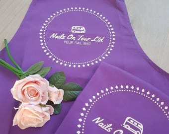 Personalised adjustable apron work uniform garment 12 colours to choose from