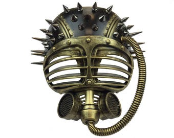 Steampunk Spiked Gas Mask Futuristic Adult Halloween
