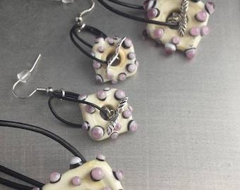 Necklace bracelet Earrings set