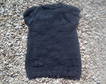 dress short sleeve grey anthracite for 2 years old.
