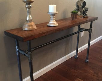 Charming Sofa Table / Pipe Table / Entryway Table / Pipe Sofa Table / Entryway  Furniture /