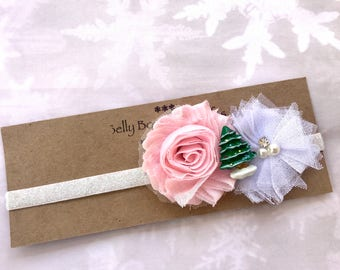 Christmas Winter Headband/Girls/Flower Girl Headband/Everyday Wear/Photo Prop/Stockings Gift/Baby Shower Gift/ Christmas Tree/Jolly/