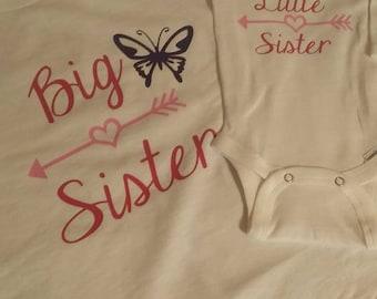 Big Sister Little Siter Shirts