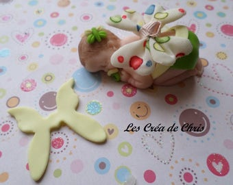 pretty girl theme Butterfly Fimo.