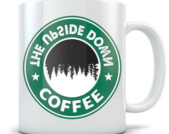 Stranger Things Mug - The Upside Down Coffee Cup - Great Gift for Fans of the TV Show - Funny Starbucks Parody