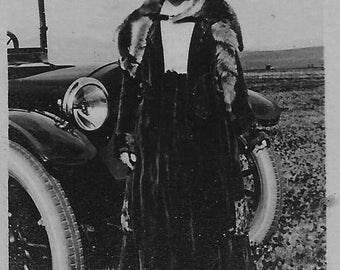 "1918 original 1.75"" x 2.75"" photo automobile from california"