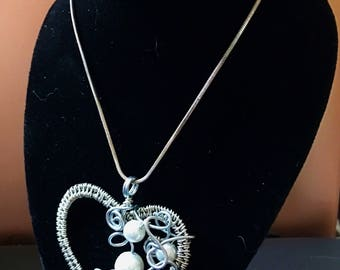 Hand crafted wire wrapped heart
