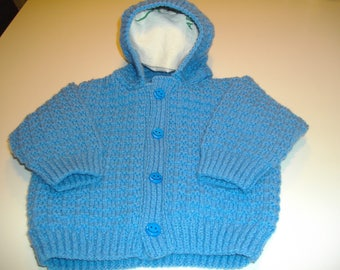 plain Cardigan with hood