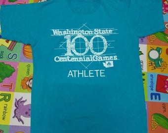 Rare Vintage 90's Washington State 100 Centennial Games Athlete
