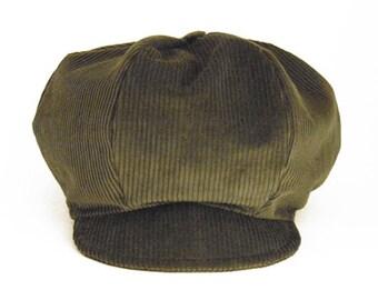Hat Rasta khaki corduroy - special Dreadlocks!