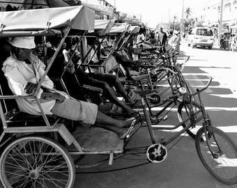 """Photography black and white: """"Station"""" - Morondave, MADAGASCAR - 2015"""