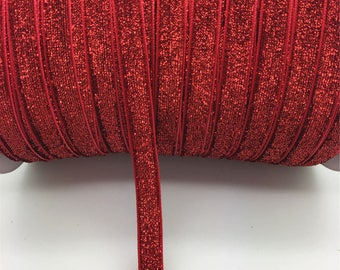 1 meter of red glitter Ribbon