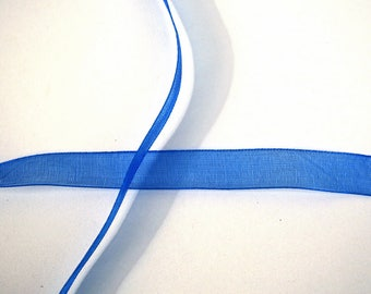 9mm cobalt blue organza Ribbon