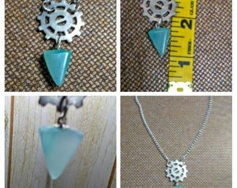 blue green smithsonite necklace