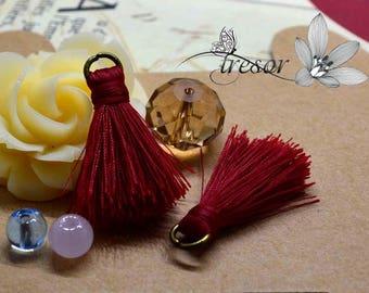 Set of 2pcs, tassels, handmade, 27mm, good quality