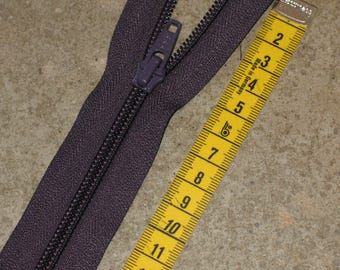 detachable 40 cm purple YKK zipper