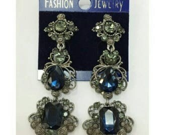 Evening earrings beautiful