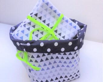 Basket / wipes (blue Triangle) storage pouch