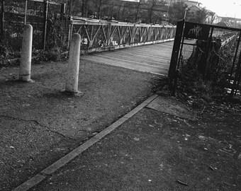 Black & White Print - Crossing at the Lochs