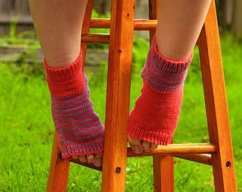Siberian master handmade knitted Open Toe Thongs Socks Warmers Sandals Flip Flop Birthday Present