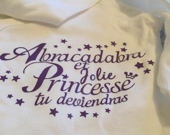 "Bodysuit ""Abracadabra and pretty Princess you become"""