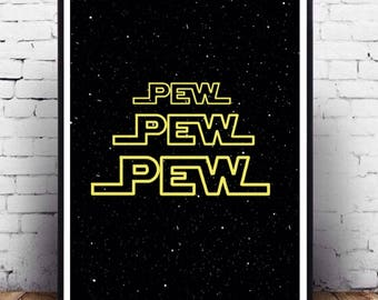 Star Wars typography poster wall art printable, Star Wars funny quote, iPhone background t-shirt design