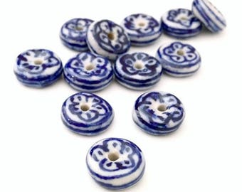 X 10 washers 10x4mm porcelain