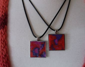 Necklace BERRY pink/purple/red