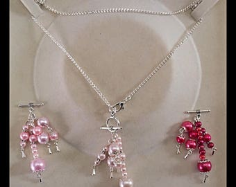 Interchangeable necklace with glass beads