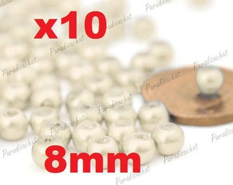 10 colors 8mm White Pearl glass beads
