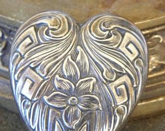 1 large brooch large vintage floral heart and arches of Baroque jewelry Vintage jewelry VINTAGE HABERDASHERY
