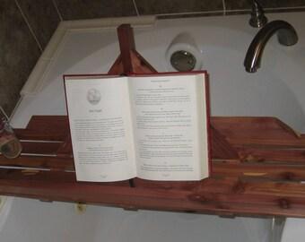 Handmade Cedar Bathtub Caddy/Tray