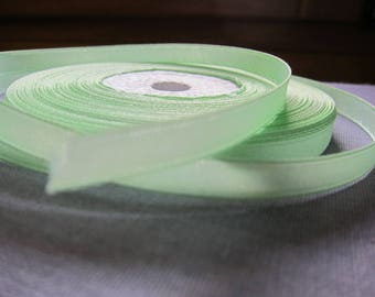 Green water 6 mm satin ribbon
