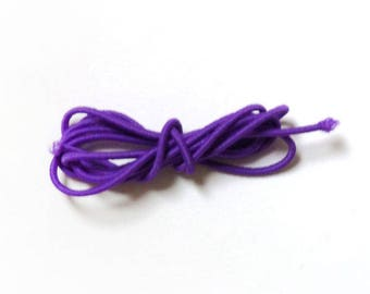 Round elastic, 2 mm, 1 m, purple