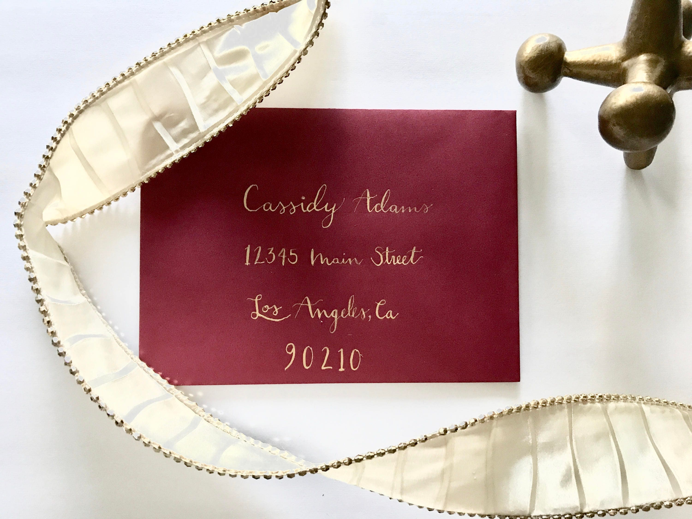 A1 Custom Addressed Envelopes, Handwritten Envelopes, Calligraphy ...