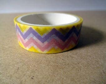 Masking tape stripes yellow, purple, pink - scrapbooking - card making - crafting