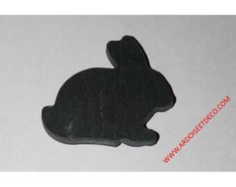 Rabbit shaped magnet made of natural slate