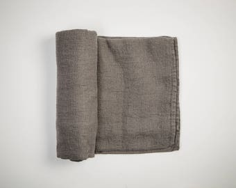 100% Linen Beach Towel (Gray)