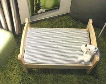 "Cloth cover 80 x 130 cm bed evolutionary ""striped"" baby Ptibidi"