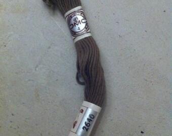 Skein smoke gray 2640 DMC cotton embroidery FLOSS